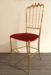 Chiavari brass chair