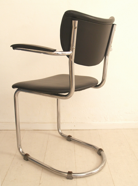 De wit buisframe stoel eetkamerstoel zwevend bakelieten
