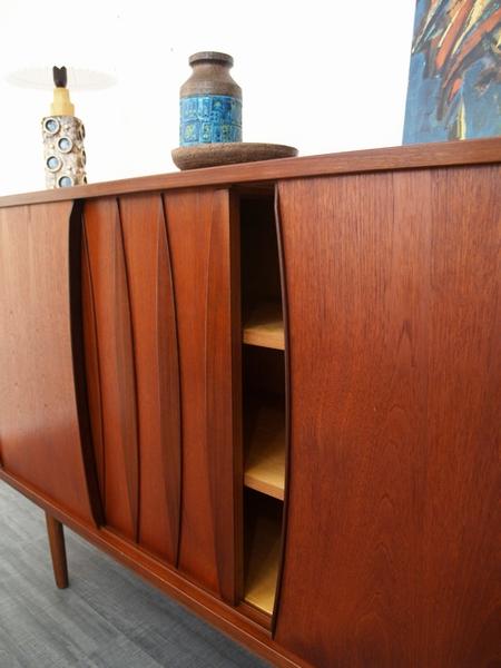 50 Jaren Kast.Deense Kast Jaren 50 Wandmeubel In Donker Teak Vintage Living Shop
