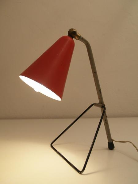 Jaren 50 vintage tafel lamp - franse stijl - Vintage Living Shop