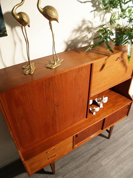 50 Jaren Kast.Jaren 50 Wandmeubel Kast Deense Stijl Teak Vintage Living Shop