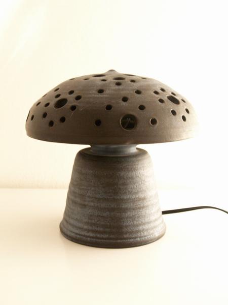 Design lamp jaren 70 paddestoel keramiek - Vintage Living Shop