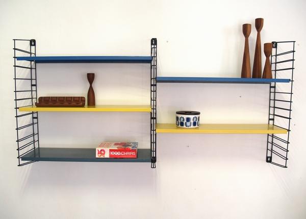 Tomado jaren 60 boekenrek wandrek vintage living shop for Jaren 60 meubelen